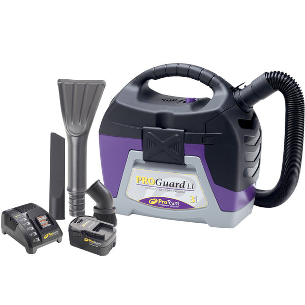 ProTeam 107495 3 Gallon ProGuard LI 3 Cordless Wet / Dry Vacuum Cleaner with Tool Kit Main Image 1