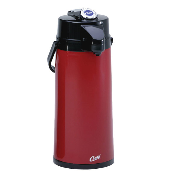 Curtis TLXA2206G000 2.2 Liter Red Lever Airpot with Glass Liner - 6/Case