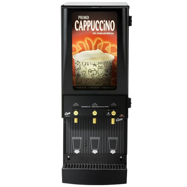 Curtis Cafe Series Primo PC3 Cappuccino Machine with Three Hoppers and Lit Sign - 120V