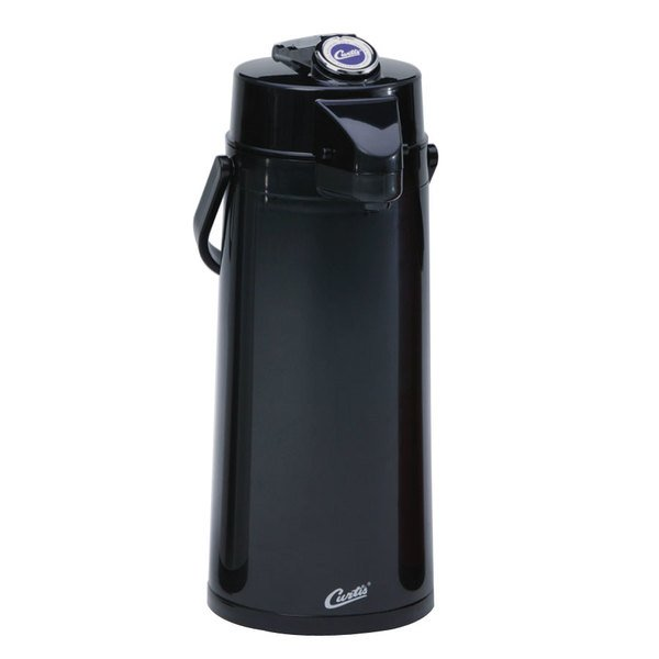 Curtis TLXA2203G000 2.2 Liter Black Lever Airpot with Glass Liner Main Image 1