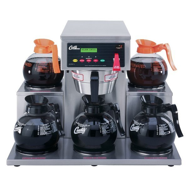 Curtis ALP5GT63A000 12 Cup Coffee Brewer with 5 Lower Warmers - 120/220V