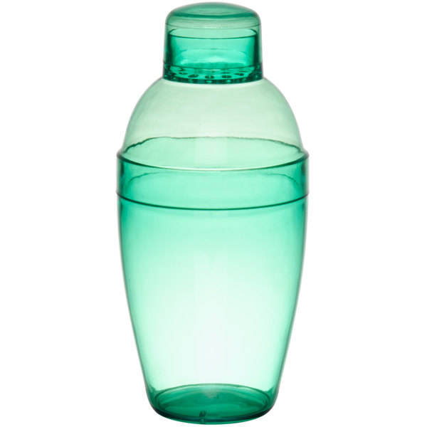 Fineline Quenchers 4101-GRN 7 oz. Green Plastic Shaker - 24/Case