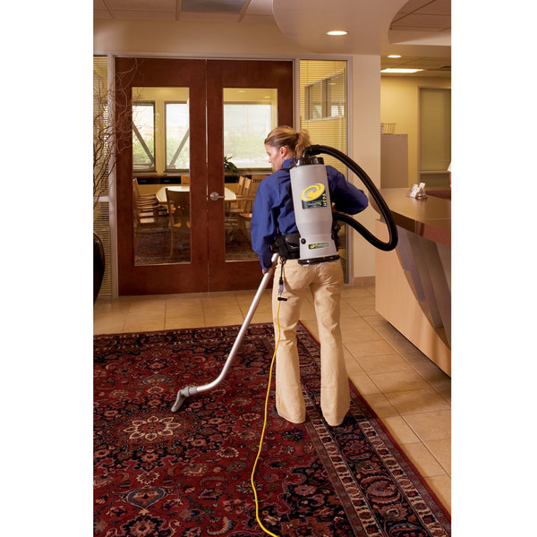 ProTeam 105733 6 Qt. QuietPro BP HEPA Backpack Vacuum with 100078 Floor Tool Kit A and HEPA Filtration System - 120V