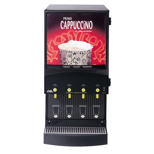 Curtis Cafe Series Primo PC4 Cappuccino Machine with Four Hoppers and Sign - 120V