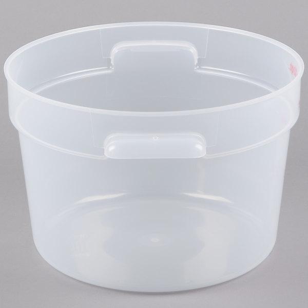 Cambro Rfs12pp190 12 Qt Translucent Round Storage Container