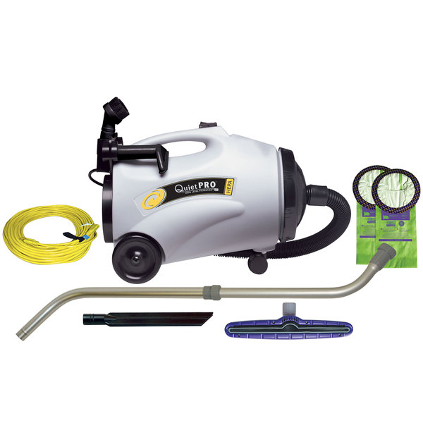 wall washer tool 107152 10 qt quietpro cn hepa canister vacuum with 107100 xover