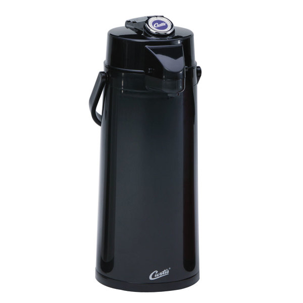 Curtis TLXA2203S000 2.2 Liter Black Lever Airpot with Stainless Steel Liner - 6/Case