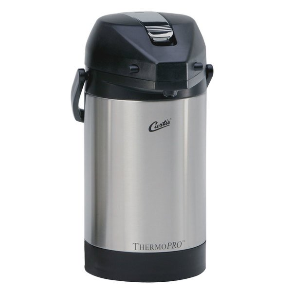 Curtis TLXA2501S000 2.5 Liter Stainless Steel Low Profile Lever Airpot with Liner Main Image 1
