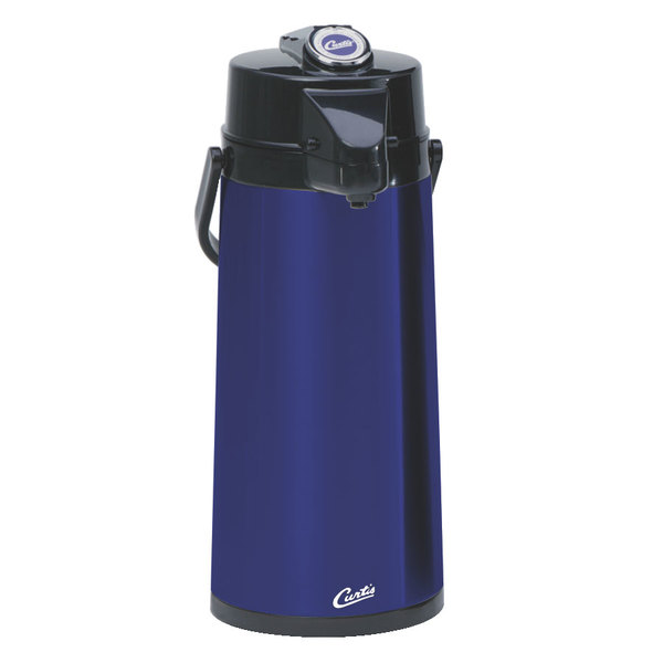 Curtis TLXA2204G000 2.2 Liter Blue Lever Airpot with Glass Liner Main Image 1