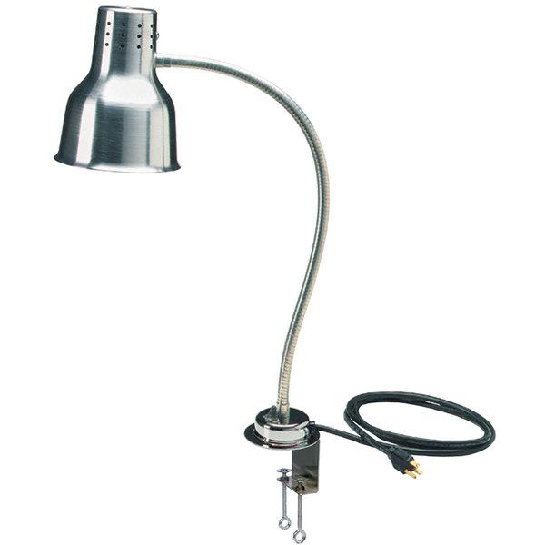"Carlisle HL8185C00 FlexiGlow 24"" Single Arm Aluminum Heat Lamp with Clamp - 120V"