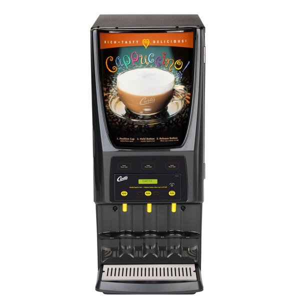 Curtis PCGT3 Primo Cappuccino Dispenser with Three Hoppers - 120V Main Image 1