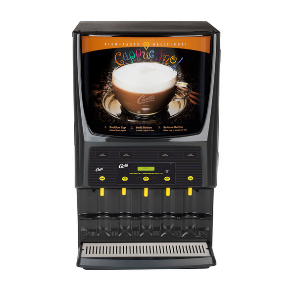 Curtis PCGT5DV Dual Voltage Primo Cappuccino Dispenser with Five Hoppers - 120/220V