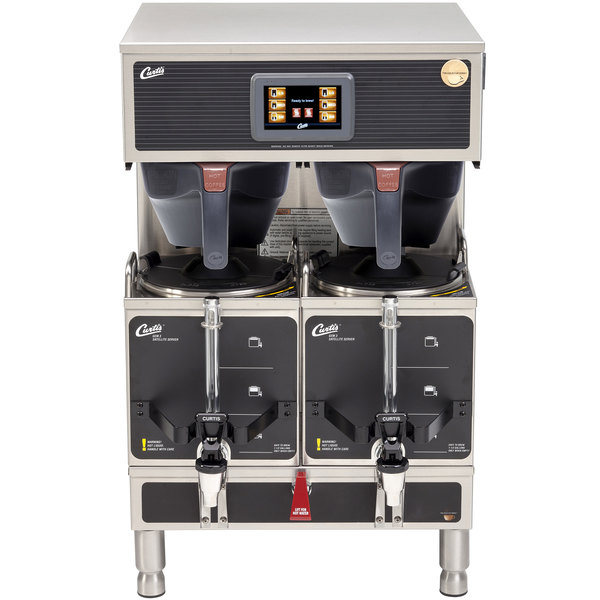 Curtis G4GEMT10A1000 Gemini Stainless Steel Twin Satellite Coffee Brewer - 220V
