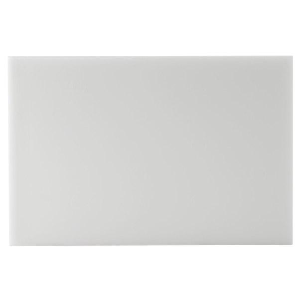 """San Jamar CB12181WH White 12"""" x 18"""" x 1"""" Cutting Board"""