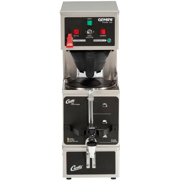 Curtis GEM-120A-63 Gemini Stainless Steel Analog Satellite Coffee Brewer - 120/220V