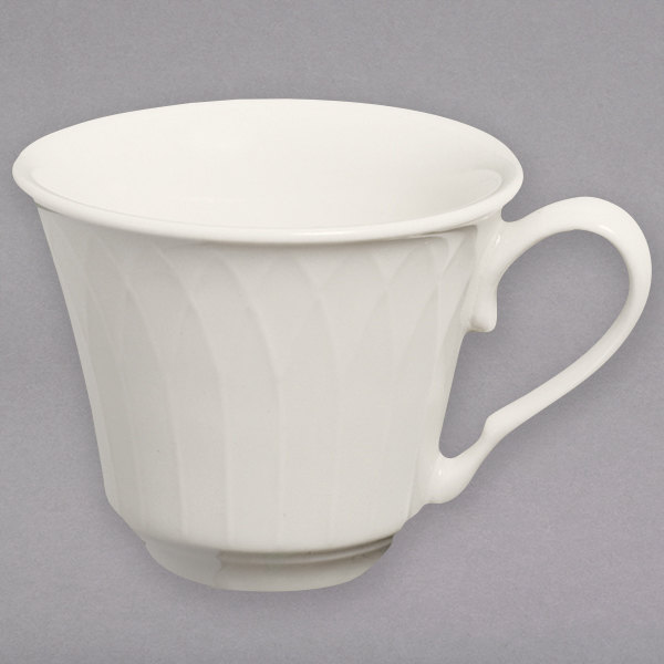 Homer Laughlin 3277000 Gothic 3.25 oz. Ivory (American White) Undecorated China Cup - 36/Case