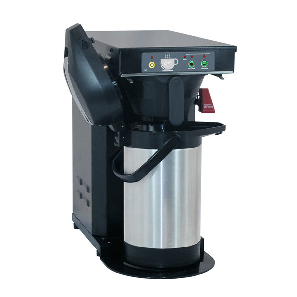 "Curtis TLP Low Profile 18"" Automatic Airpot Brewer with Black Finish - 120V, 1500W Main Image 1"