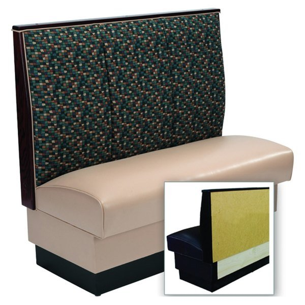 """American Tables & Seating AS-423-Wall 3 Channel Back Upholstered Wall Bench - 42"""" High"""