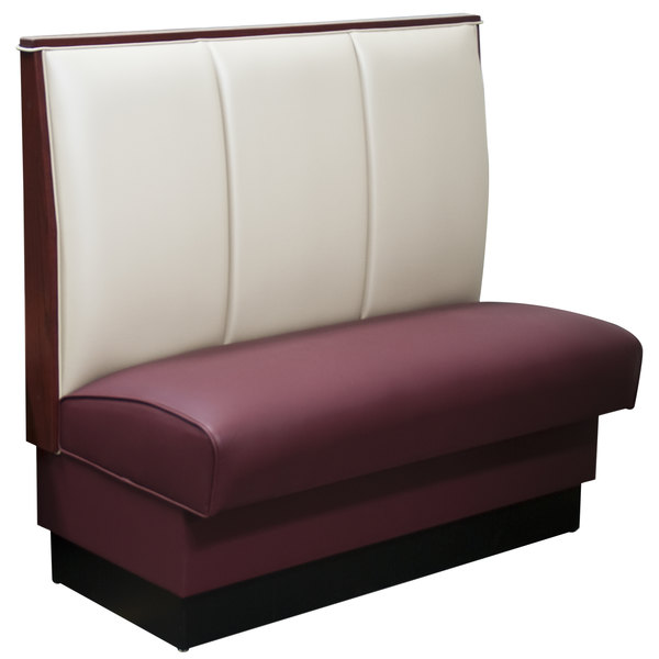 "American Tables & Seating AS-423-D 30"" Single Deuce 2 Channel Back Upholstered Booth Main Image 1"