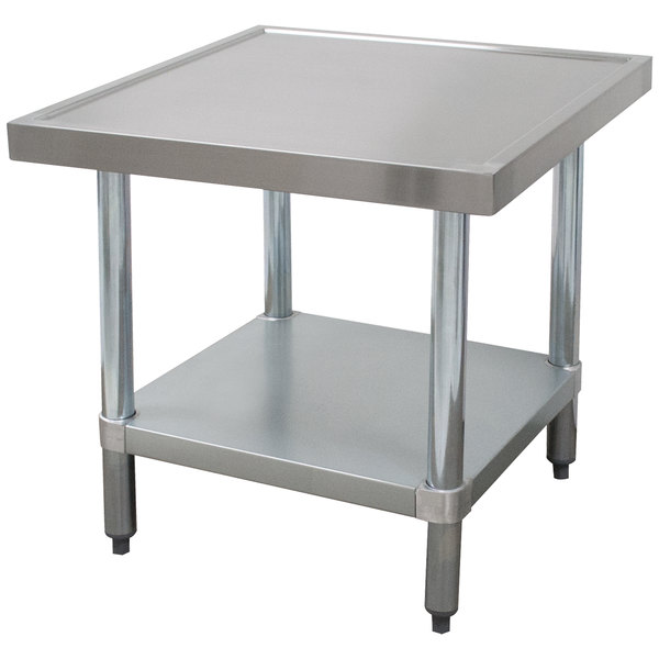 "Advance Tabco MT-GL-300 30"" x 30"" Stainless Steel Mixer Table with Galvanized Undershelf"