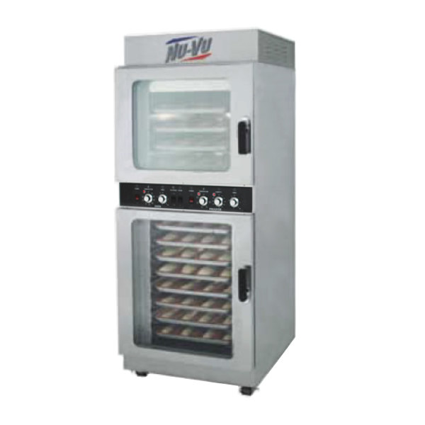 NU-VU OP-4/8M Double Deck Electric Oven Proofer Combo - 208V, 1 Phase, 7.2 kW
