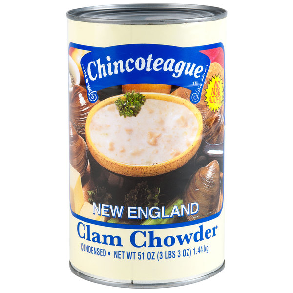 Chincoteague 51 oz. Condensed New England Clam Chowder - 12/Case