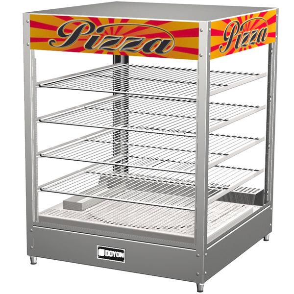 "Doyon DRP4 22 3/8"" Countertop Hot Food Merchandiser / Warmer with 4 Shelves - 120V"
