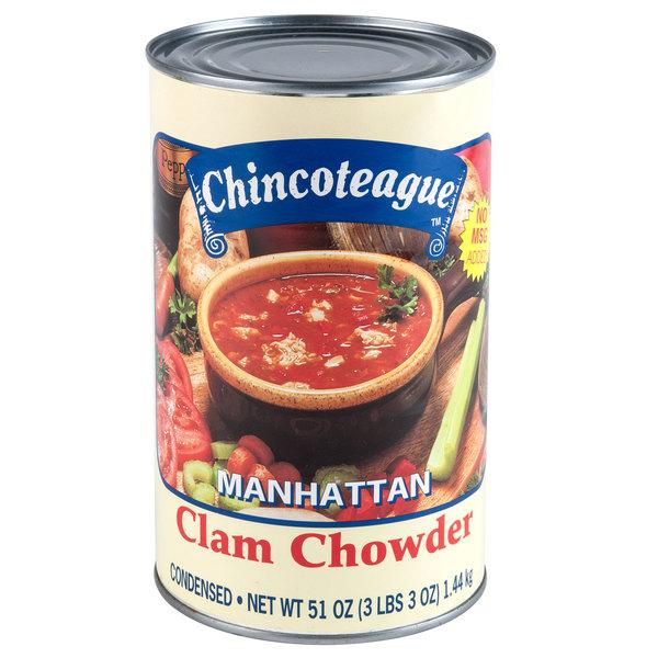 Chincoteague 51 oz. Condensed Manhattan Clam Chowder - 6/Case
