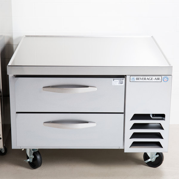 "Beverage-Air WTRCS36-1 36"" Two Drawer Refrigerated Chef Base Main Image 5"