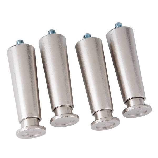 """Cooking Performance Group 390101 4"""" Leg for CPG Countertop Equipment - 4/Pack Main Image 1"""
