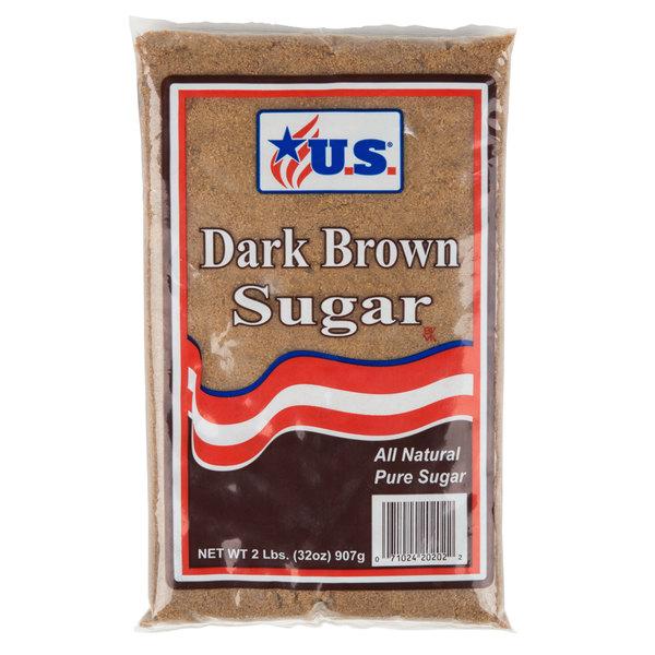 2 lb. Dark Brown Sugar - 12/Case