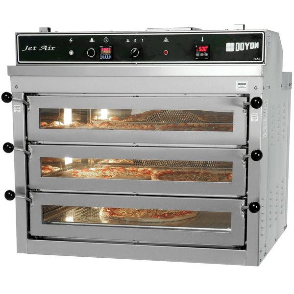 Doyon PIZ3G Natural Gas Triple Deck Pizza Oven - 120V, 70,000 BTU Main Image 1