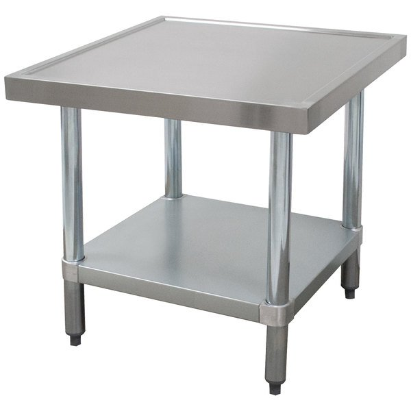 Advance Tabco Mt Gl 242 24 X Stainless Steel Mixer Table With Galvanized Undershelf