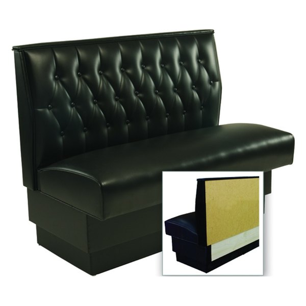 "American Tables & Seating AS-48T-Wall Button Tufted Back Wall Bench - 48"" High Main Image 1"