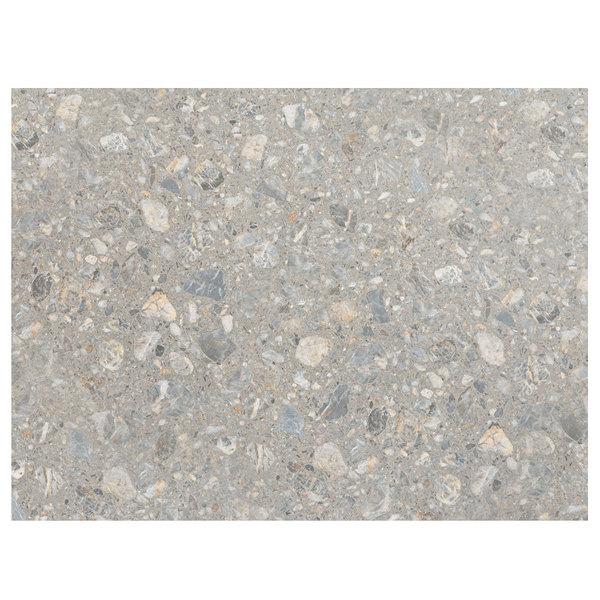 "Grosfillex 99530002 24"" x 32"" Tokyo Stone Rectangular Molded Melamine Outdoor Table Top"