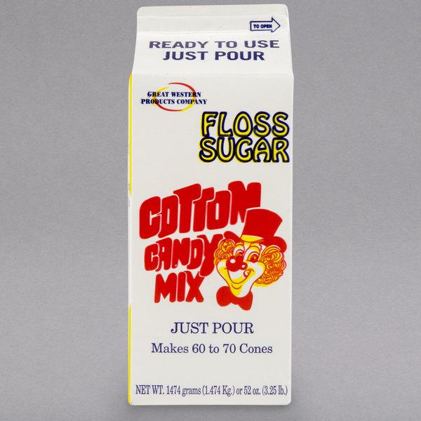 Great Western 1/2 Gallon Carton Orange Cotton Candy Floss Sugar - 6/Case Main Image 1