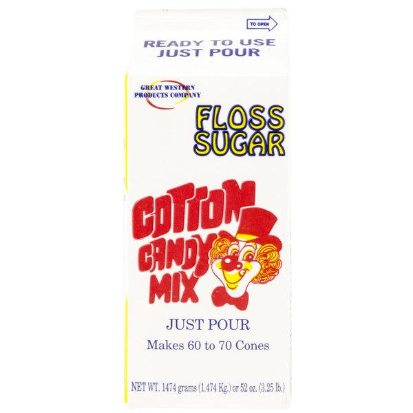 Great Western 1/2 Gallon Carton Pina Colada Cotton Candy Floss Sugar - 6/Case