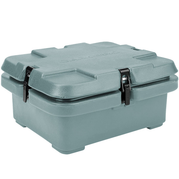 """Cambro 240MPC401 Camcarrier® Slate Blue Top Loading 4"""" Deep Insulated Food Pan Carrier Main Image 1"""