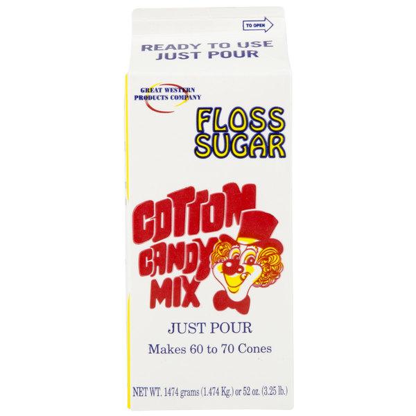 Great Western 1/2 Gallon Carton Purple Grape Cotton Candy Floss Sugar - 6/Case