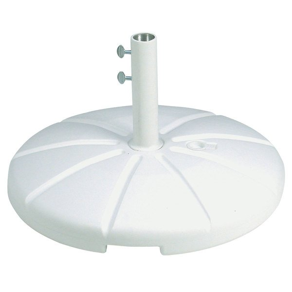 Grosfillex US602104 White Resin Umbrella Base for Table Use