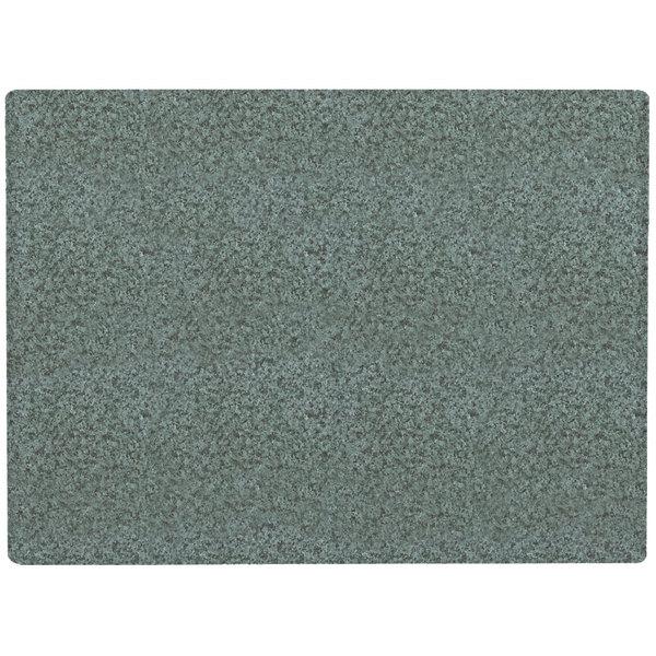"Grosfillex 99530025 24"" x 32"" Granite Green Rectangular Molded Melamine Outdoor Table Top"