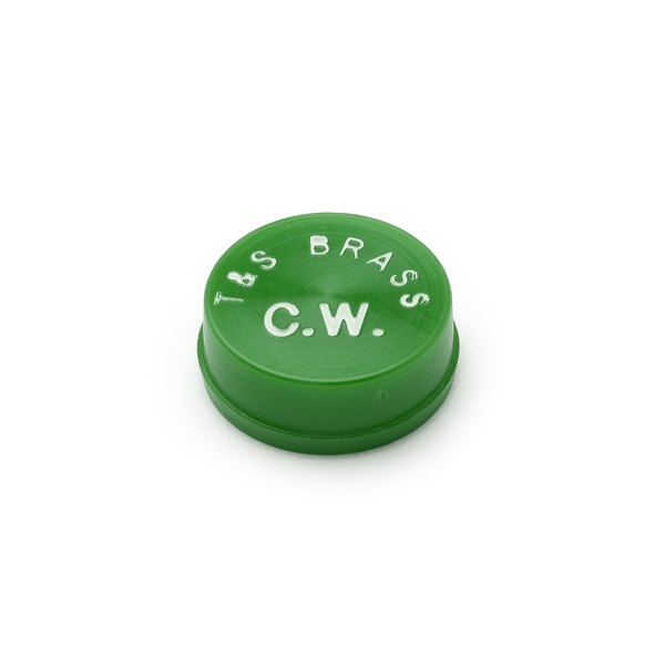 T&S 001191-45 Green Cold Water Snap-In Index Button Main Image 1