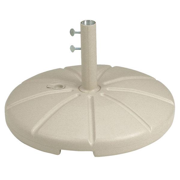 Grosfillex US602166 Sandstone Resin Umbrella Base for Table Use Main Image 1