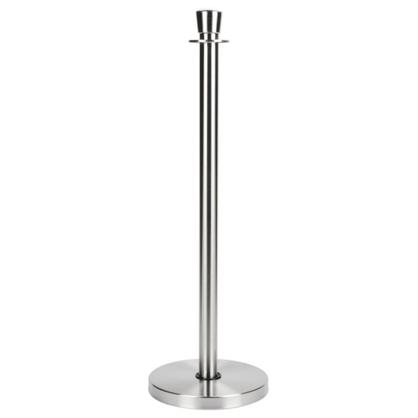 """Aarco LS-7 Satin 40"""" Rope Style Crowd Control / Guidance Stanchion"""