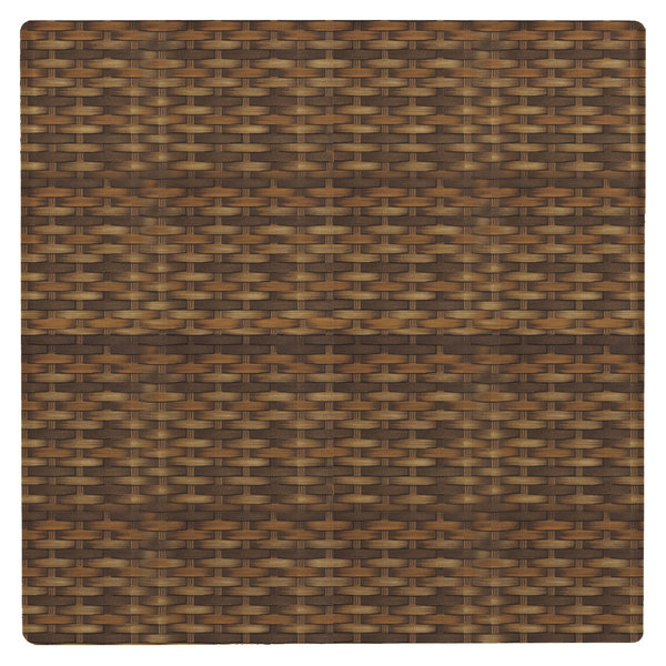 """Grosfillex 99841118 32"""" x 32"""" Wicker Square Molded Melamine Outdoor Table Top"""