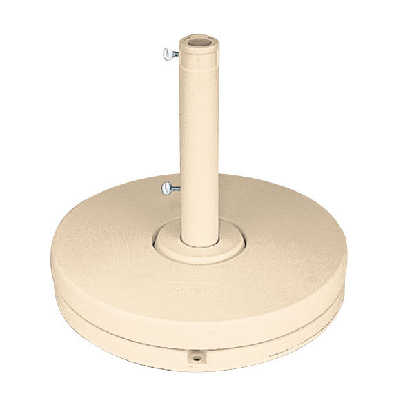 Grosfillex US607066 70 lb. Sandstone Market Umbrella Base for Freestanding Use