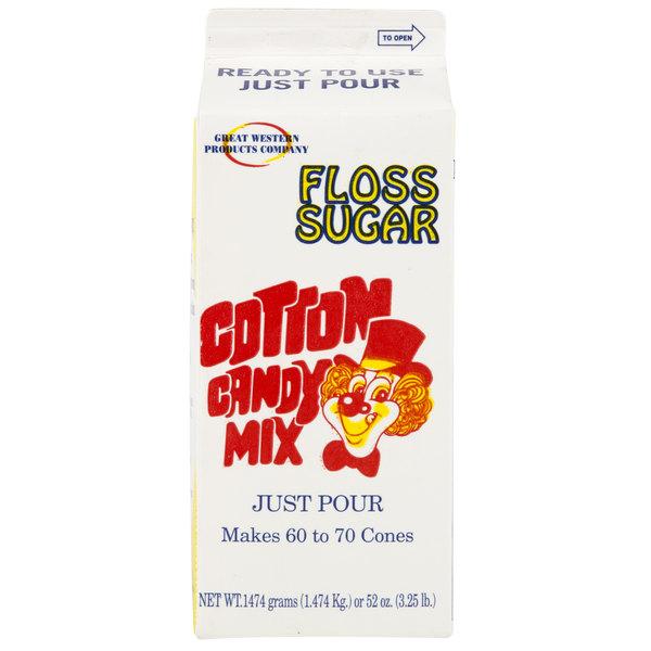 Great Western 1/2 Gallon Carton Green Lime Cotton Candy Floss Sugar