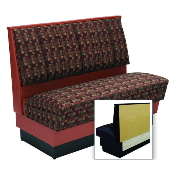 """American Tables & Seating AS42-66U-Wall Alex Style Wall Bench - Upholstered - 42"""" High"""