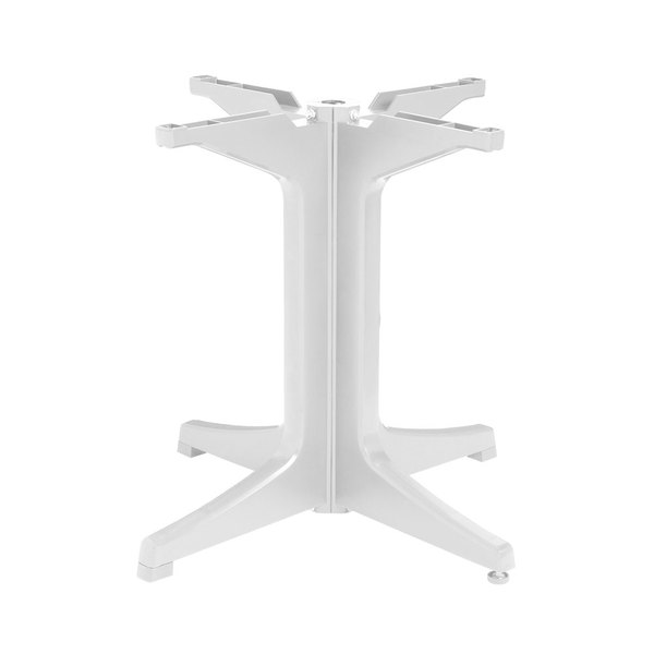 Grosfillex US623204 White Resin Pedestal Outdoor Table Base Main Image 1