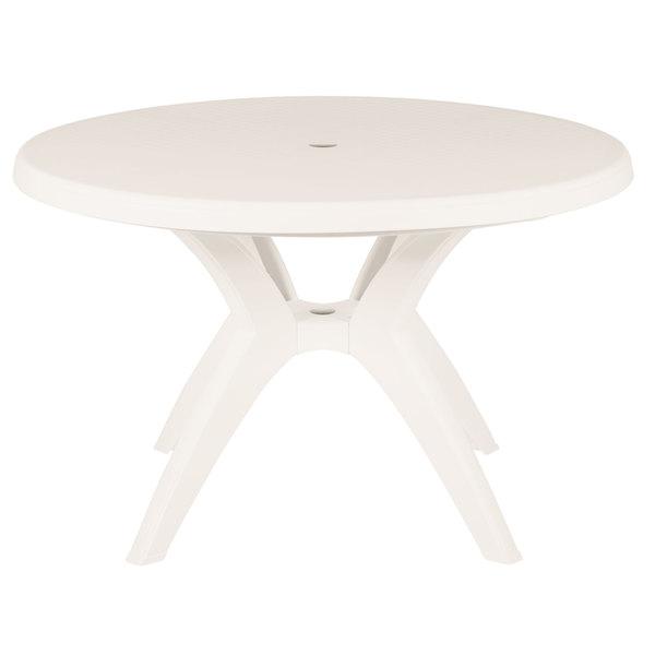 Grosfillex Us526766 Ibiza 46 Sandstone Round Resin Pedestal